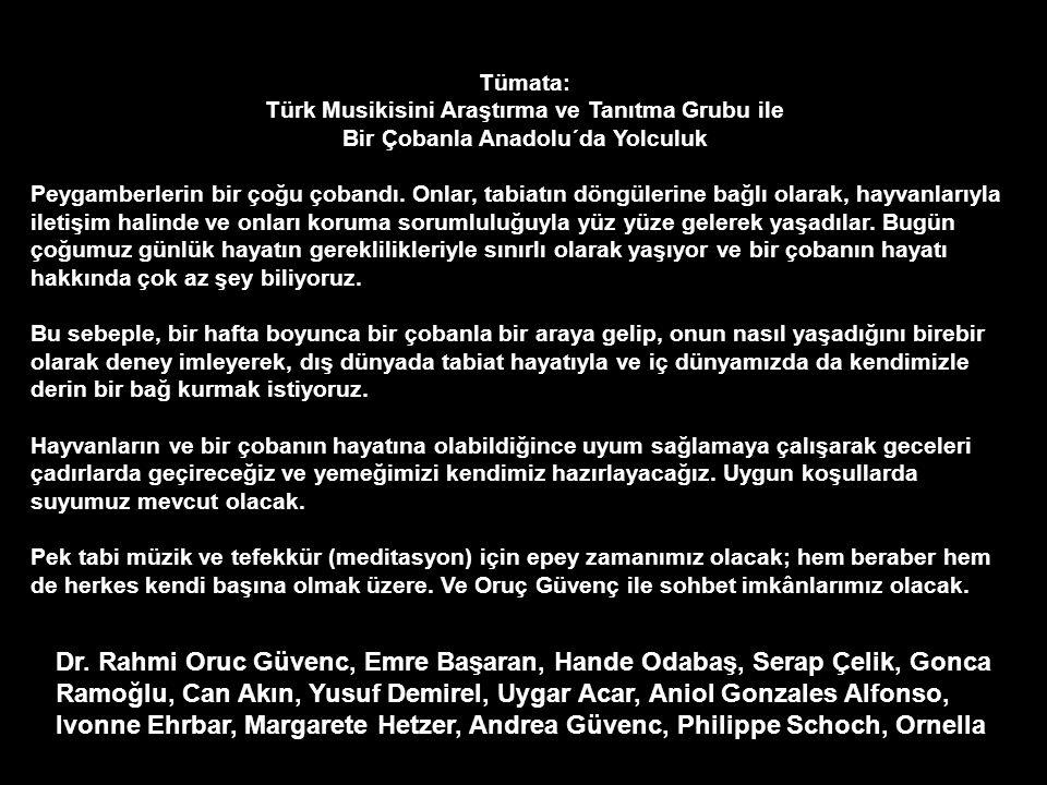 MANİSA İLİ KULA İLÇESİ Selim Sebahat Palanduz Anadolu Lisesi Tümata: Türk Musikisini Araştırma ve Tanıtma Grubu ile Bir Çobanla Anadolu´da Yolculuk CA