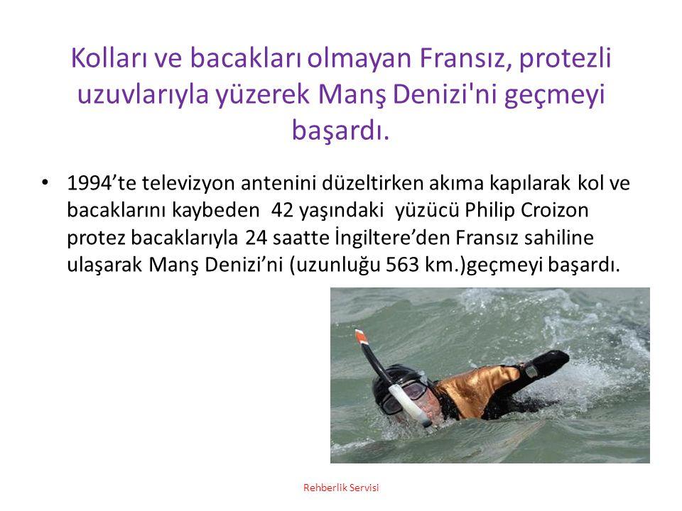 Kolları ve bacakları olmayan Fransız, protezli uzuvlarıyla yüzerek Manş Denizi'ni geçmeyi başardı. 1994'te televizyon antenini düzeltirken akıma kapıl