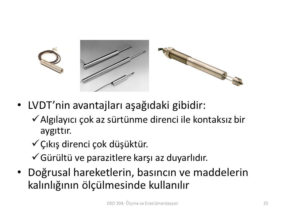RVDT RVDT (döner değişken fark transformatörü) LVDT ile aynı prensipte çalışır; tek farkı döner ferromanyetik nüve kullanılmasıdır.