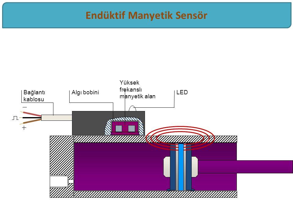 Bağlantı kablosu LEDAlgı bobini Yüksek frekanslı manyetik alan Endüktif Manyetik Sensör