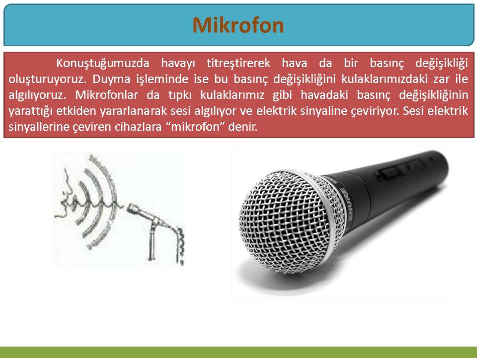 Mikrofon Bütün mikrofonların yapısı, ses dalgalarının bir diyaframı titreştirmesi esasına dayanmaktadır.
