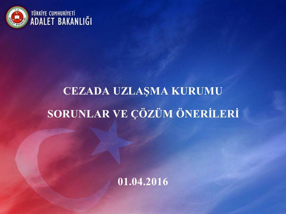 CEZADA UZLAŞMA KURUMU SORUNLAR VE ÇÖZÜM ÖNERİLERİ 01.04.2016