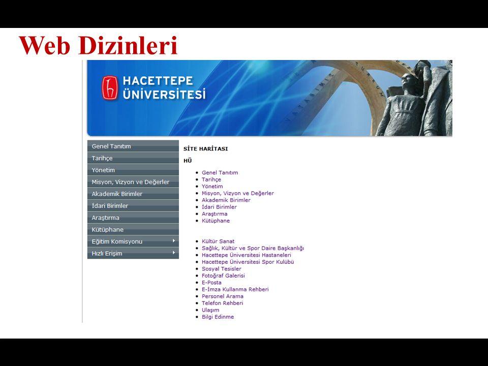 Web Dizinleri