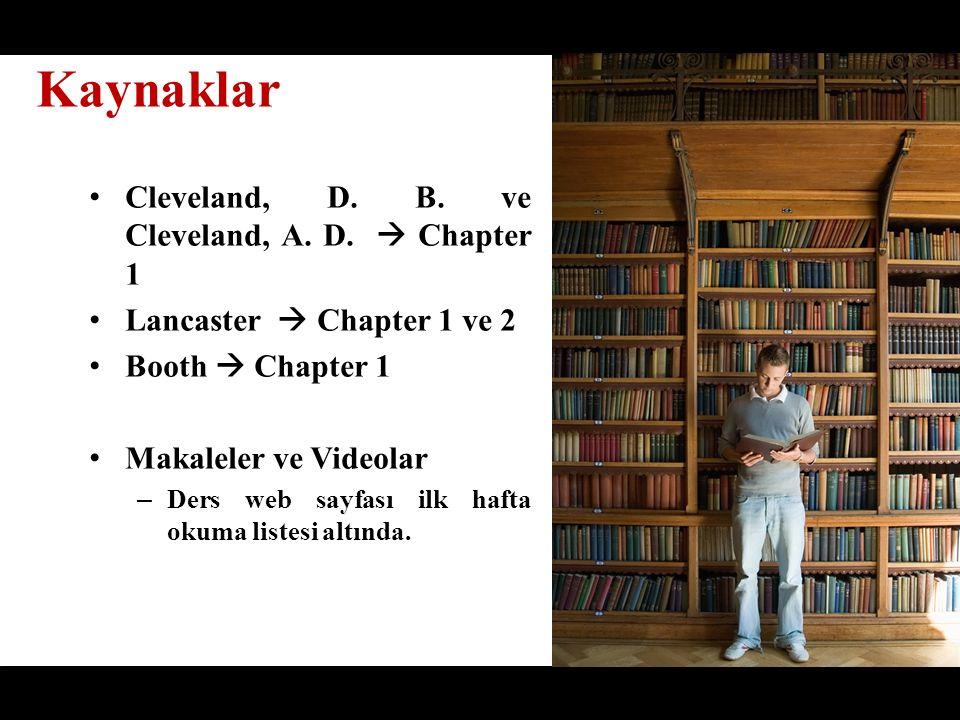 Cleveland, D. B. ve Cleveland, A. D.