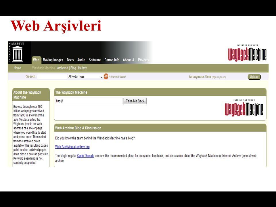 Web Arşivleri