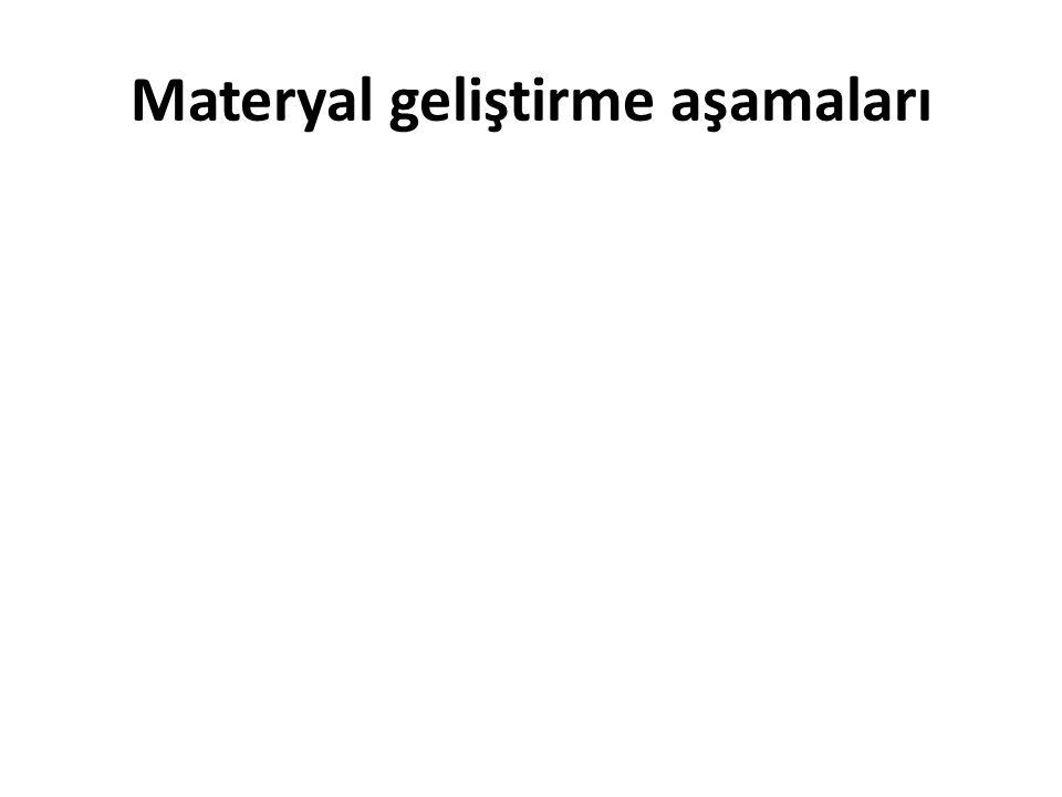 Materyal geliştirme aşamaları