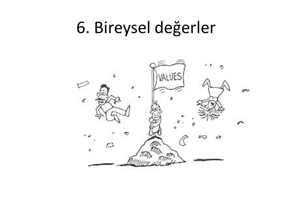 6. Bireysel değerler