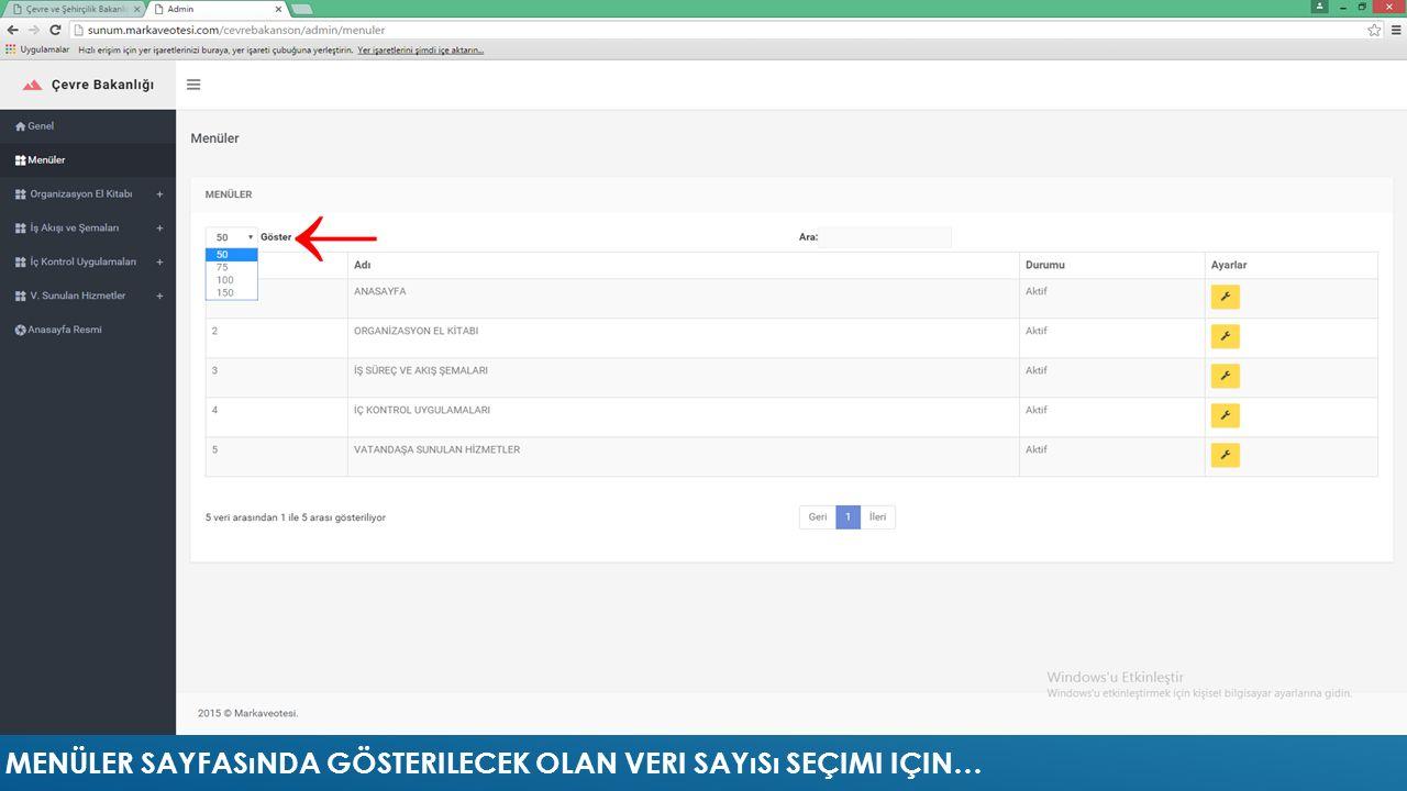 WEB SİTESİ İŞ AKIŞI VE ŞEMALARI
