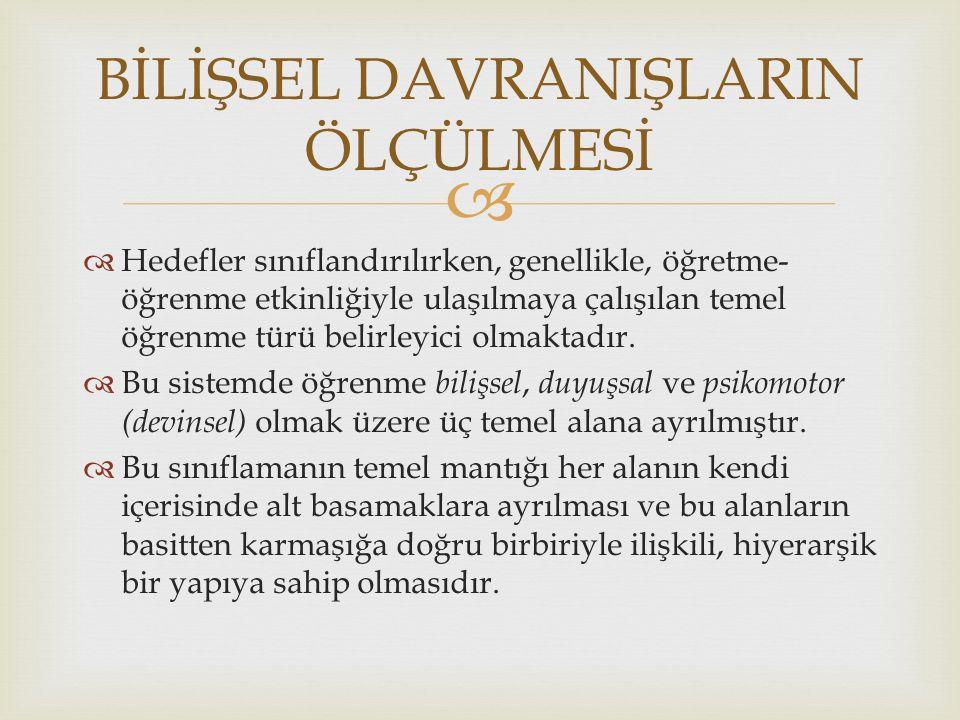   Örnek 1:  Baştürk, S.(2010).