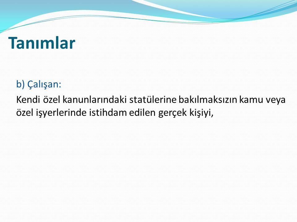İdari para cezaları ve uygulanması MADDE 26 – (1) Bu Kanunun; ı) 20 nci maddesinin birinci ve dördüncü fıkralarında belirtilen yükümlülükleri yerine getirmeyen işverene bin Türk Lirası, üçüncü fıkrasında belirtilen yükümlülükleri yerine getirmeyen işverene binbeşyüz Türk Lirası, i) 22 nci maddesinde belirtilen yükümlülükleri yerine getirmeyen işverene her bir aykırılık için ayrı ayrı ikibin Türk Lirası, j) 23 üncü maddesinin ikinci fıkrasında belirtilen bildirim yükümlülüklerini yerine getirmeyen yönetimlere beşbin Türk Lirası,