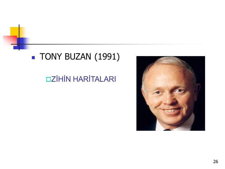 26 TONY BUZAN (1991)  ZİHİN HARİTALARI