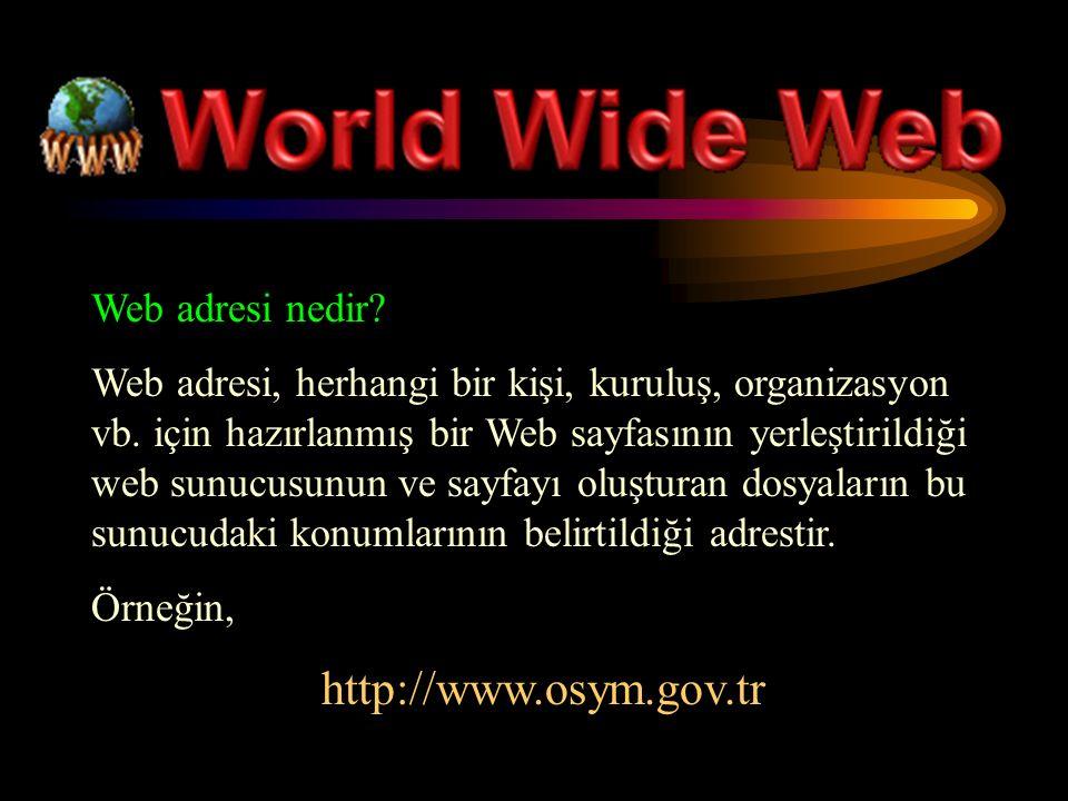Web adresi nedir. Web adresi, herhangi bir kişi, kuruluş, organizasyon vb.