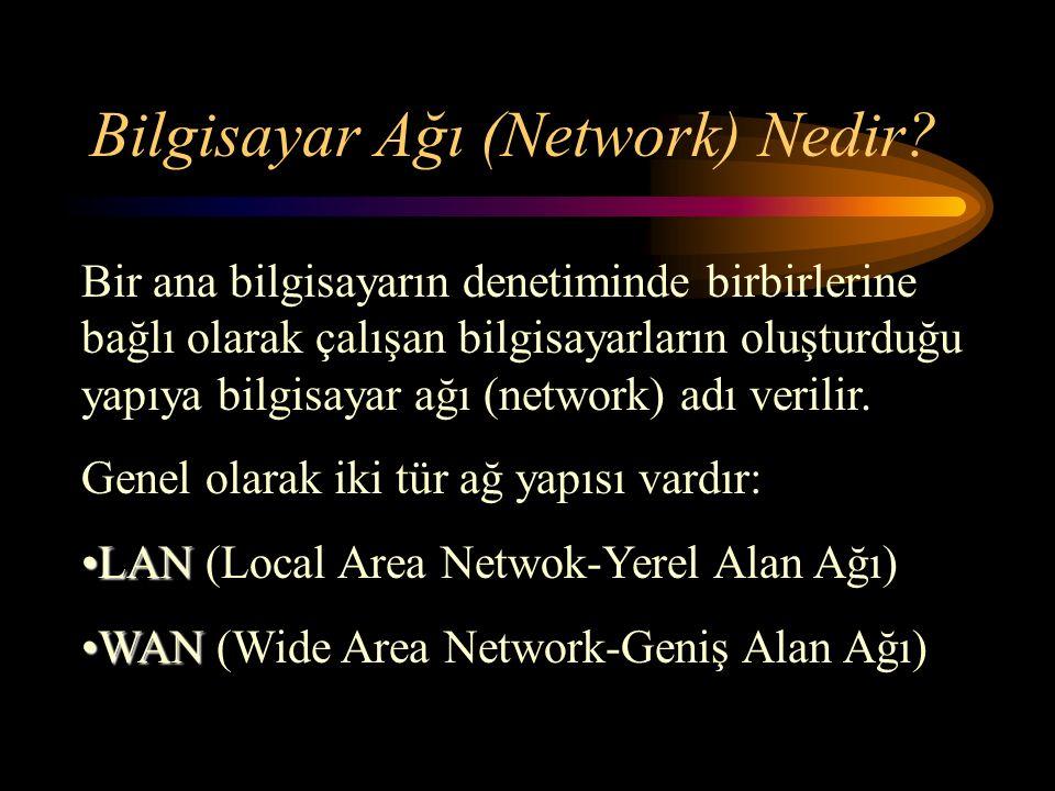 LAN LAN (Local Area Netwok-Yerel Alan Ağı)
