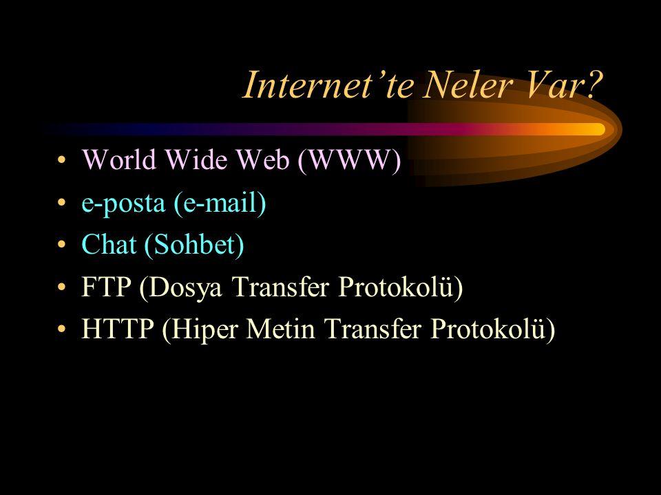 Internet'te Neler Var.