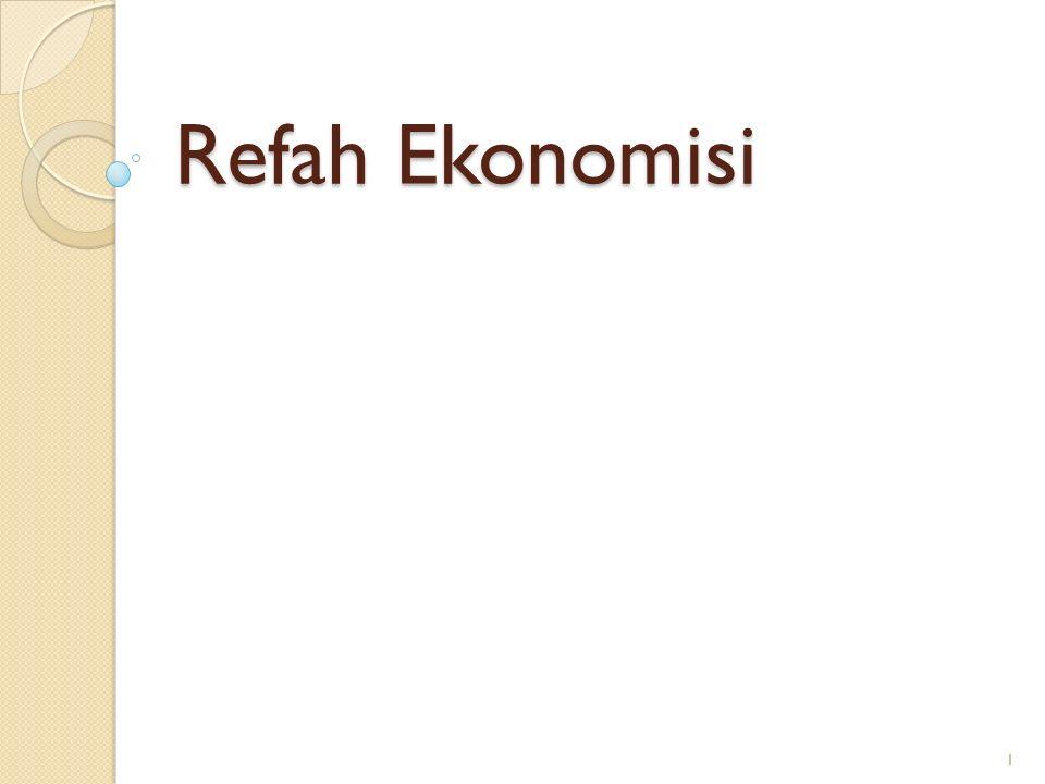 Refah Ekonomisi 1