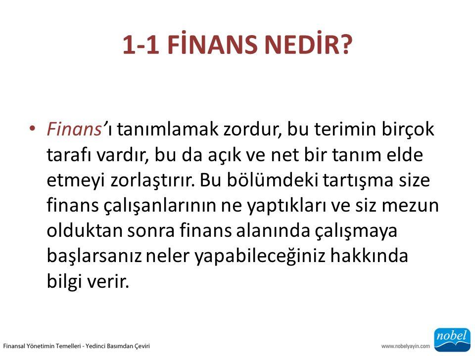 1-1 FİNANS NEDİR.