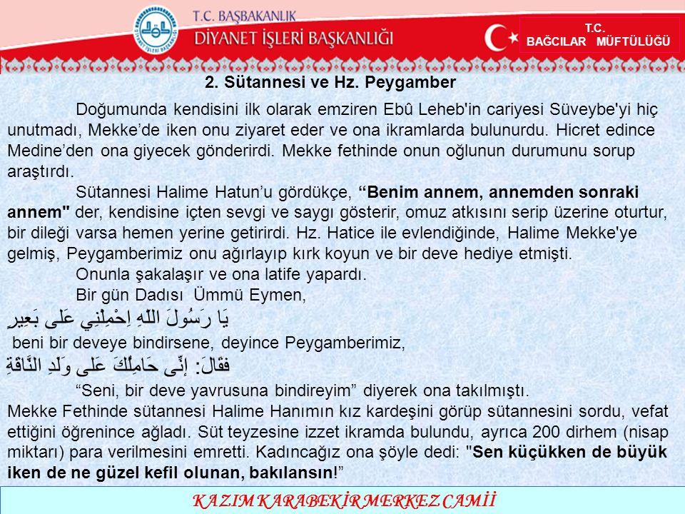 T.C. BAĞCILAR MÜFTÜLÜĞÜ KAZIM KARABEKİR MERKEZ CAMİİ 2.