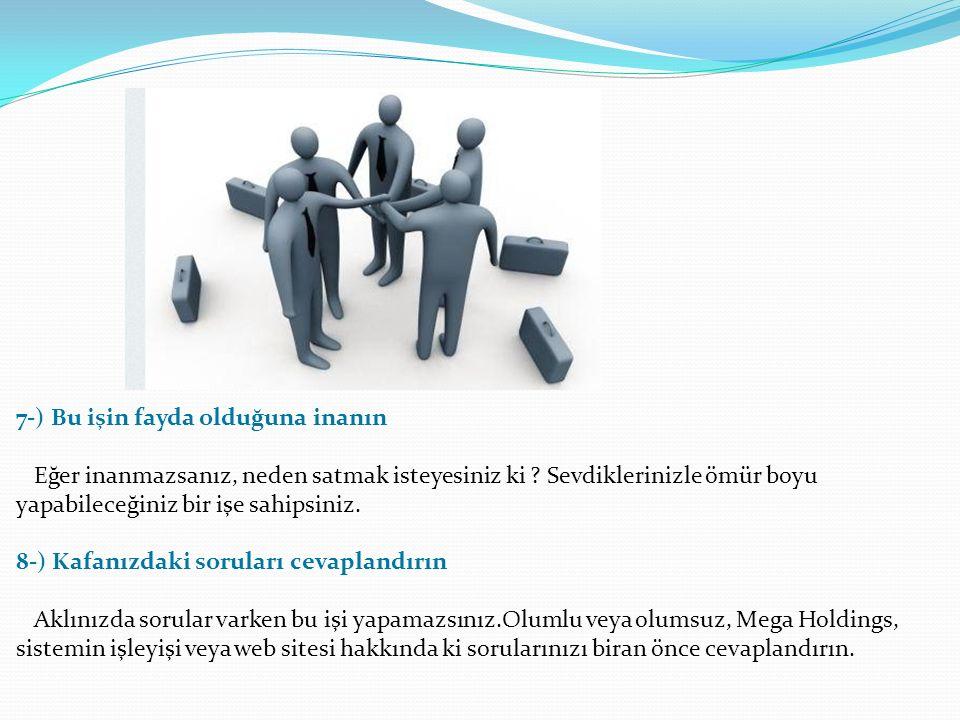 5-) Duygusal Zeka ve Satış eğitimlerinizi alın Hafife alınmayacak eğitimlere sahibiz. Bu iki eğitim sayesinde nasıl davranmanız gerektiğini öğrenir, k