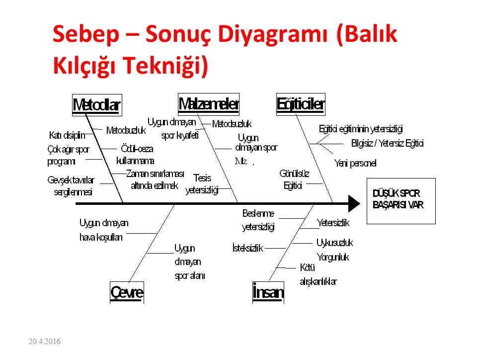Sebep – Sonuç Diyagramı (Balık Kılçığı Tekniği) 20.4.2016