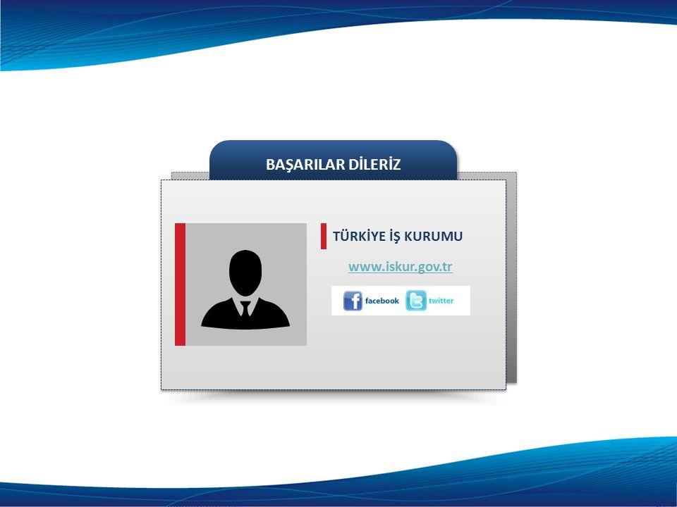 www.iskur.gov.tr BAŞARILAR DİLERİZ TÜRKİYE İŞ KURUMU