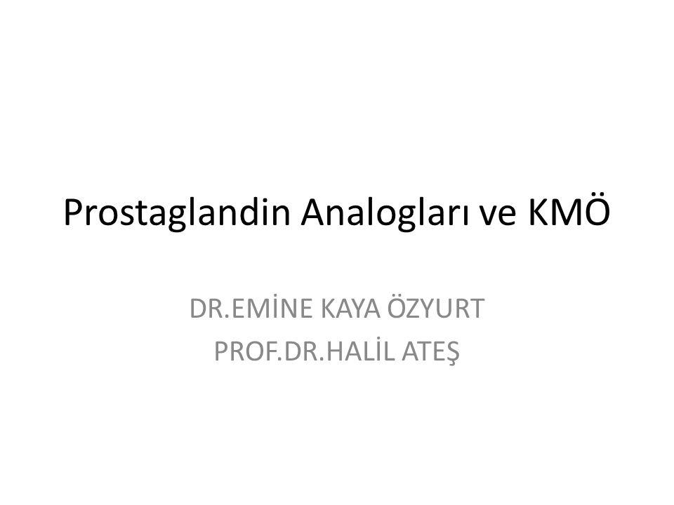 Prostaglandin Analogları ve KMÖ DR.EMİNE KAYA ÖZYURT PROF.DR.HALİL ATEŞ