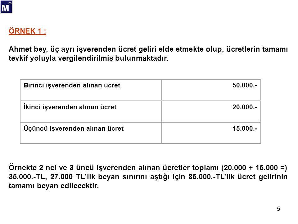 16 MEVDUAT FAİZLERİ 01/01/2006 tarihinden itibaren Yabancı Para / Türk Lirası Mevduat hesaplarından elde edilen faiz gelirleri, vadeye ve para birimine göre değişen oranlarda tevkifata tabi olup, bu gelirler için yıllık beyanname verilmeyecektir.