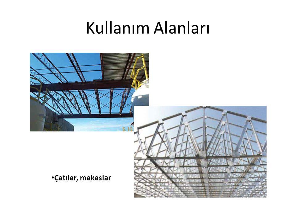 Kullanım Alanları Çatılar, makaslar