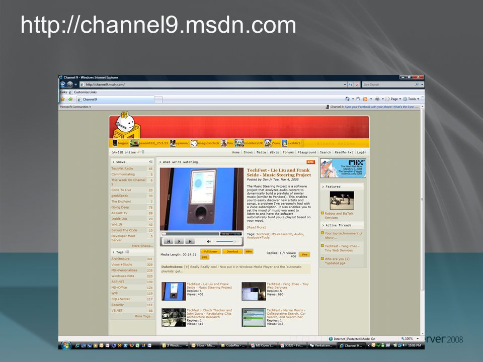 http://channel9.msdn.com