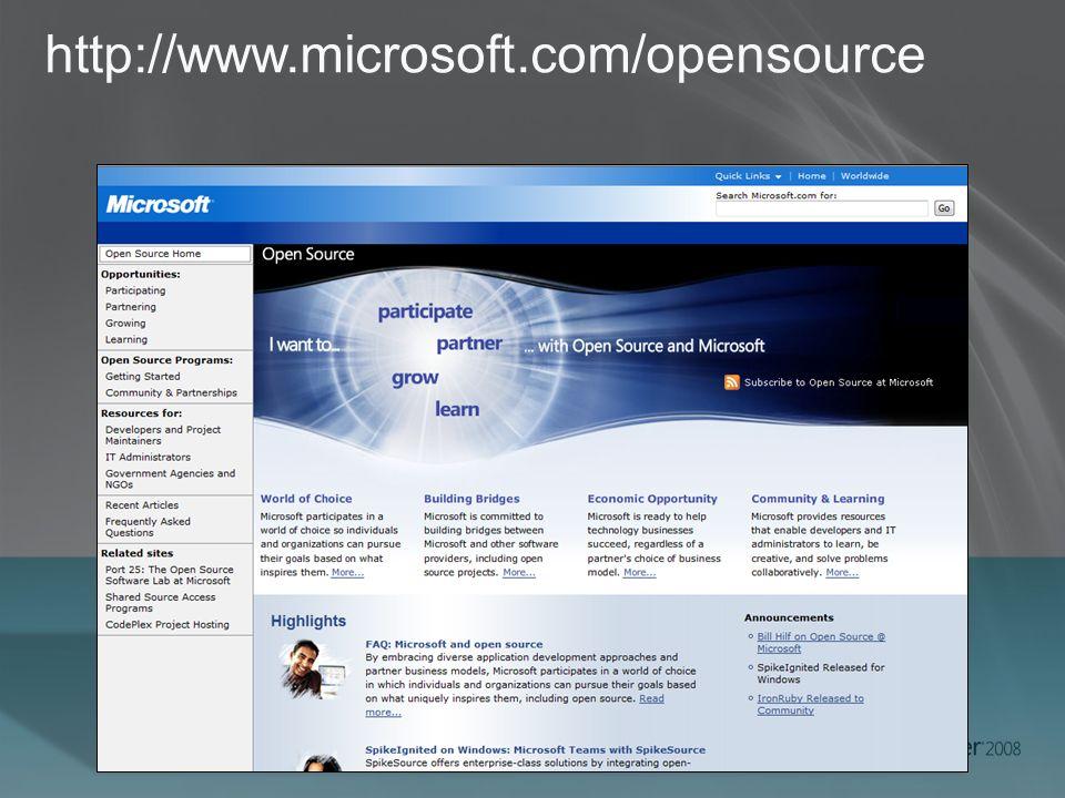 http://www.microsoft.com/opensource