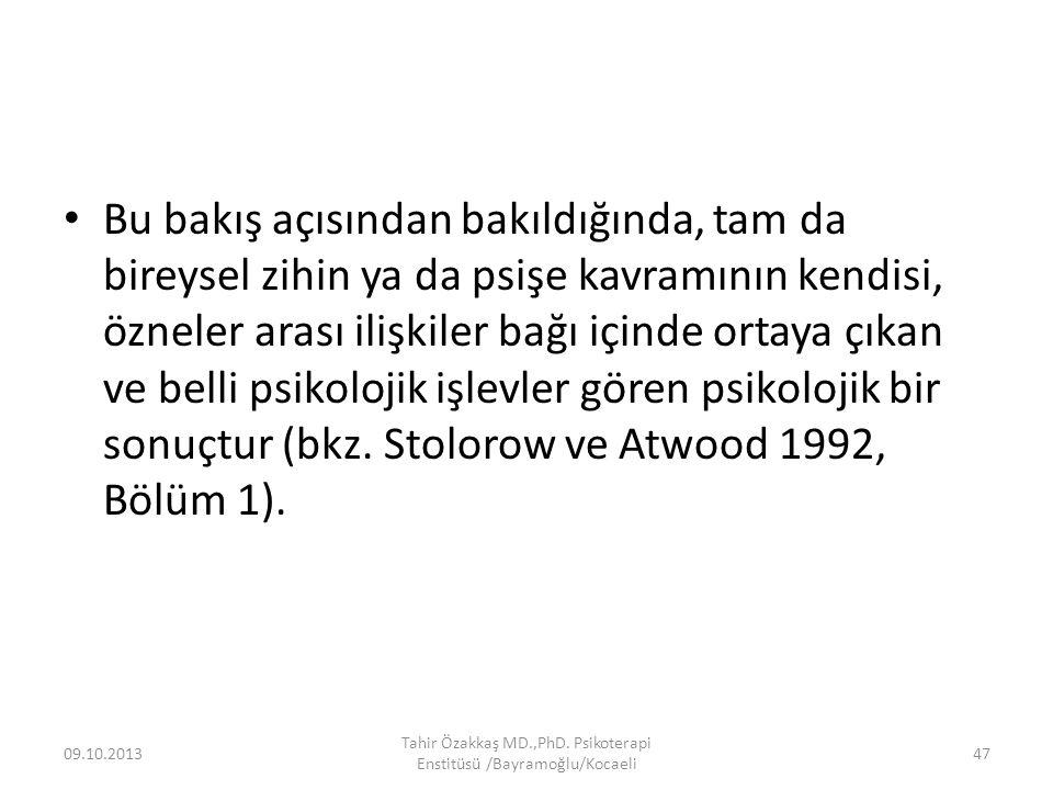 Aslında, kitabın ana fikri giriş bölümündeki şu cümlede özetlenmişti: gözlemleyen gözlemlenendir (Stolorow ve Atwood 1979, s.