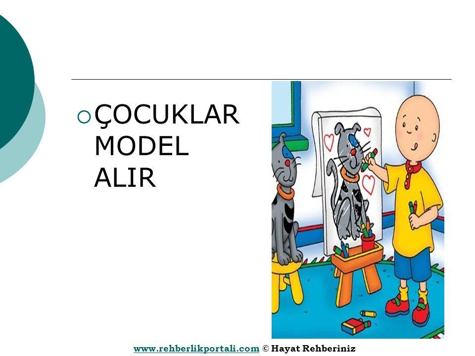 www.rehberlikportali.comwww.rehberlikportali.com © Hayat Rehberiniz  ÇOCUKLAR MODEL ALIR