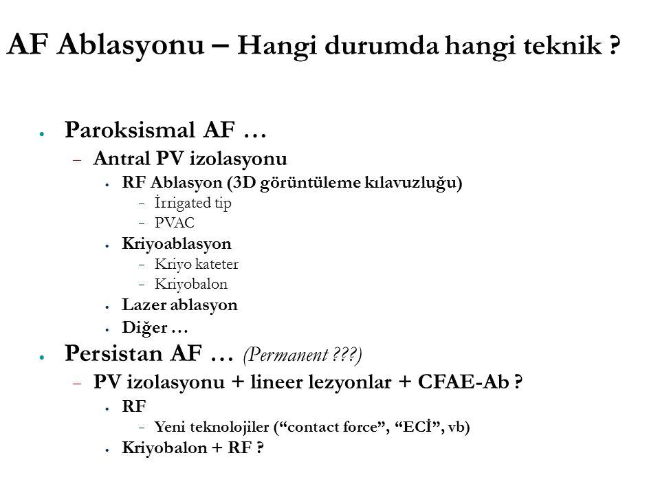 AF Ablasyonu – Hangi durumda hangi teknik .