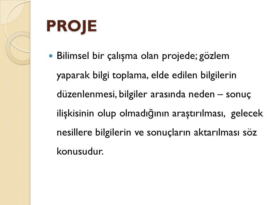 Proje raporu şu kısımlardan oluşur.a) Projenin Amacı Kısaca projeyi niçin yaptı ğ ımızı yazılır.