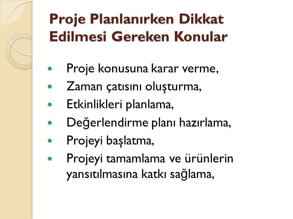 Bilimsel Proje Raporu Bölümleri 4.