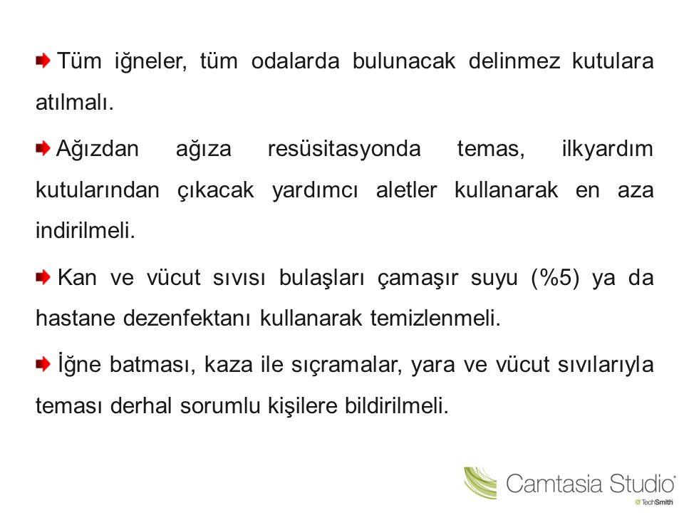 Kişisel Temizlik Kuralları: Laboratuvarda yemek, içmek ve sigara içmek uygunsuzdur.