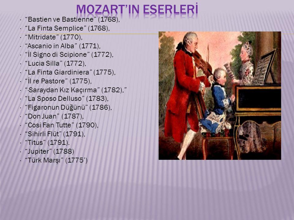  1784 yılında herkes Mozart'tan bahsediyordu.
