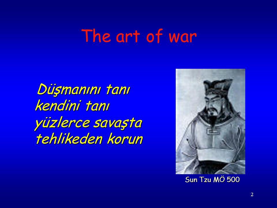 2 Düşmanını tanı kendini tanı yüzlerce savaşta tehlikeden korun Düşmanını tanı kendini tanı yüzlerce savaşta tehlikeden korun The art of war Sun Tzu MÖ 500