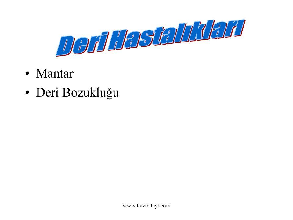 www.hazirslayt.com Mantar Deri Bozukluğu
