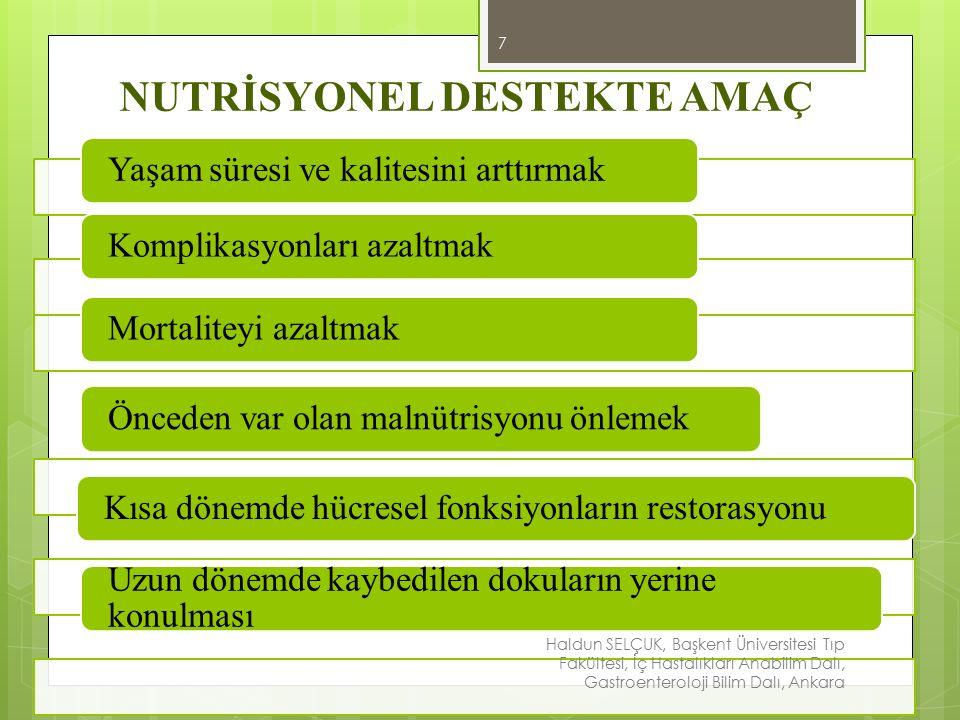 ENTERAL BESLENME 8 Besinlerin oral ya da gastrik tüplerle verilmesidir.