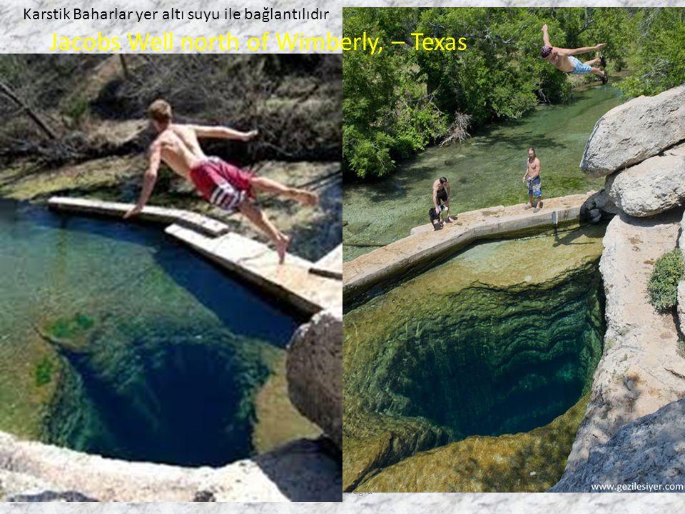 Talip Alaoğlu Jacobs Well north of Wimberly, – Texas Karstik Baharlar yer altı suyu ile bağlantılıdır