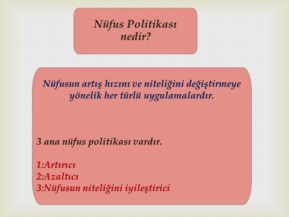 Nüfus Politikası nedir?