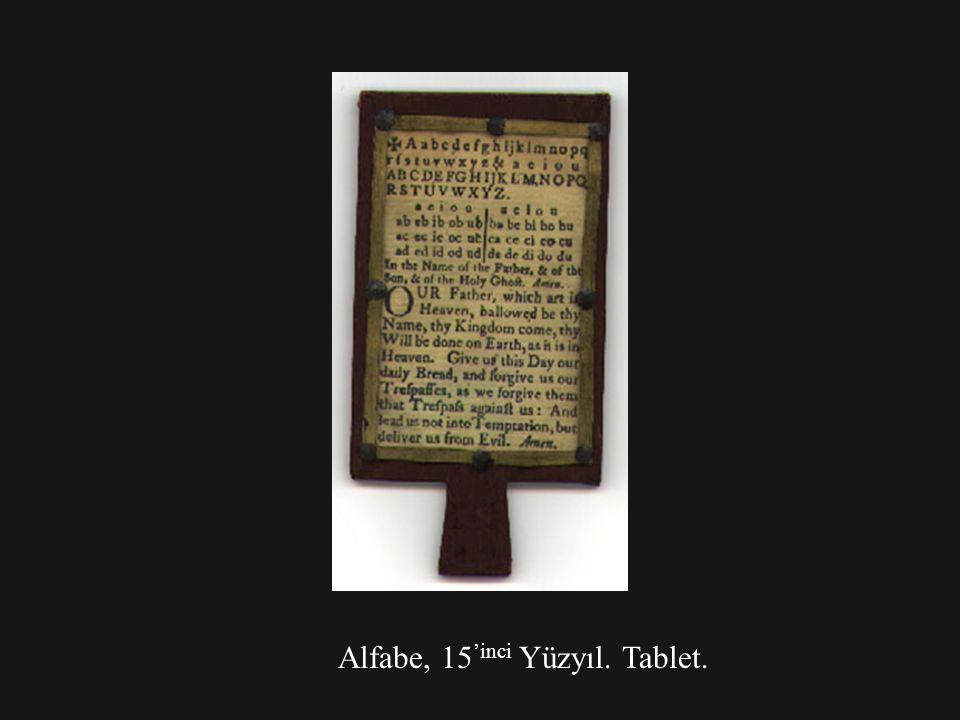 Alfabe, 15 'inci Yüzyıl. Tablet.