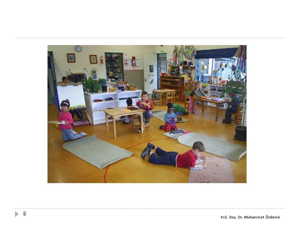 Montessori materyalleri ve etkinlikleri  Dil etkinliğini destekleyen materyaller önemlidir.