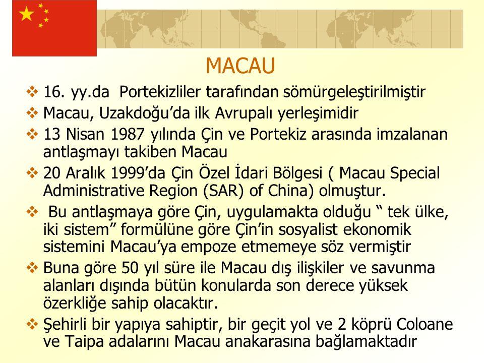 MACAU  16.