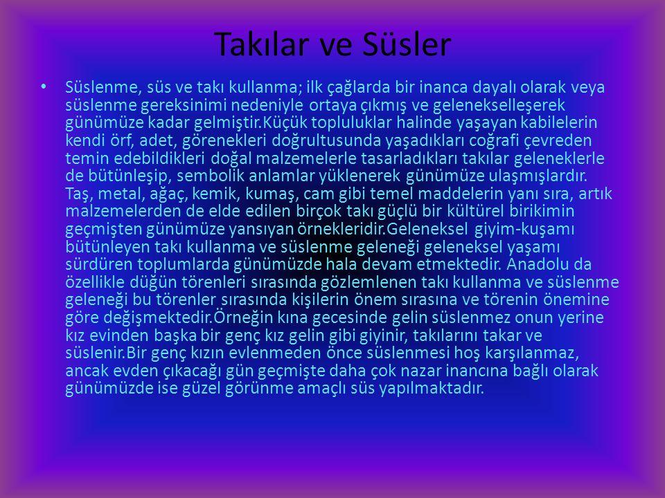 Türkiyedeki Giyim,Kuşam ve Süslenme Kültürü Çocuk, Kadın, Erkek Giyim-Kuşamı Giyim insanın var oluşuyla, öncelikle doğa koşullarından korunmak amacıyl