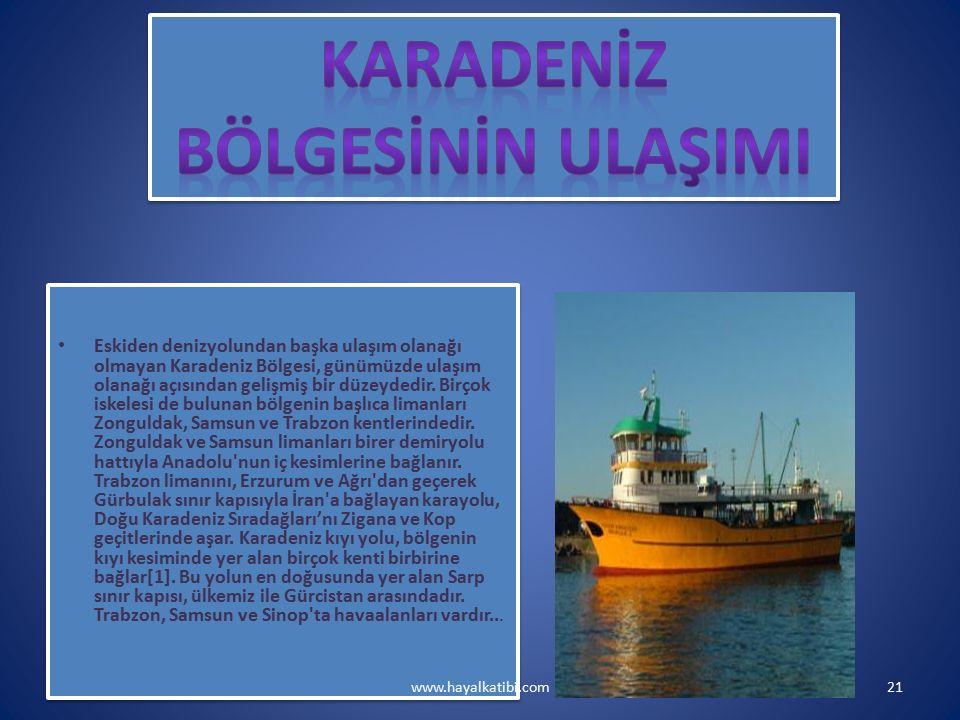 Eskiden denizyolundan başka ulaşım olanağı olmayan Karadeniz Bölgesi, günümüzde ulaşım olanağı açısından gelişmiş bir düzeydedir.