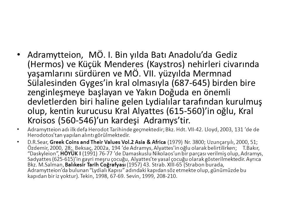 Adramytteion, MÖ.I.