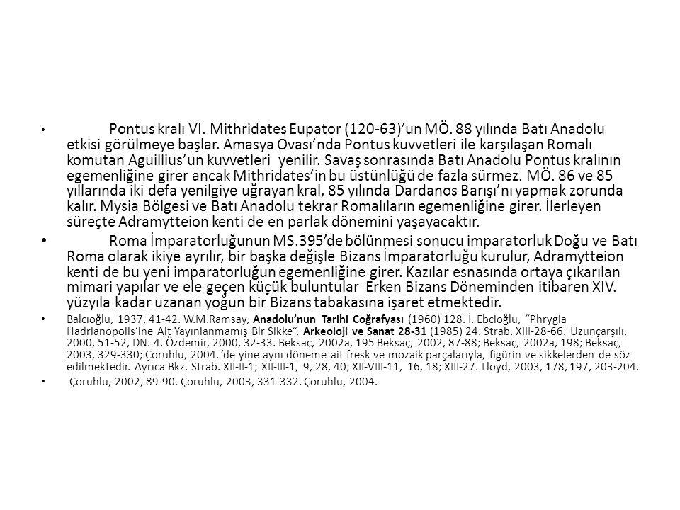 Pontus kralı VI.Mithridates Eupator (120-63)'un MÖ.