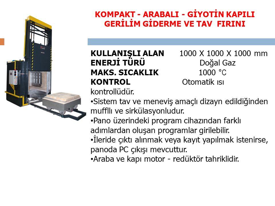 KULLANIŞLI ALAN 1000 X 1000 X 1000 mm ENERJİ TÜRÜ Doğal Gaz MAKS.