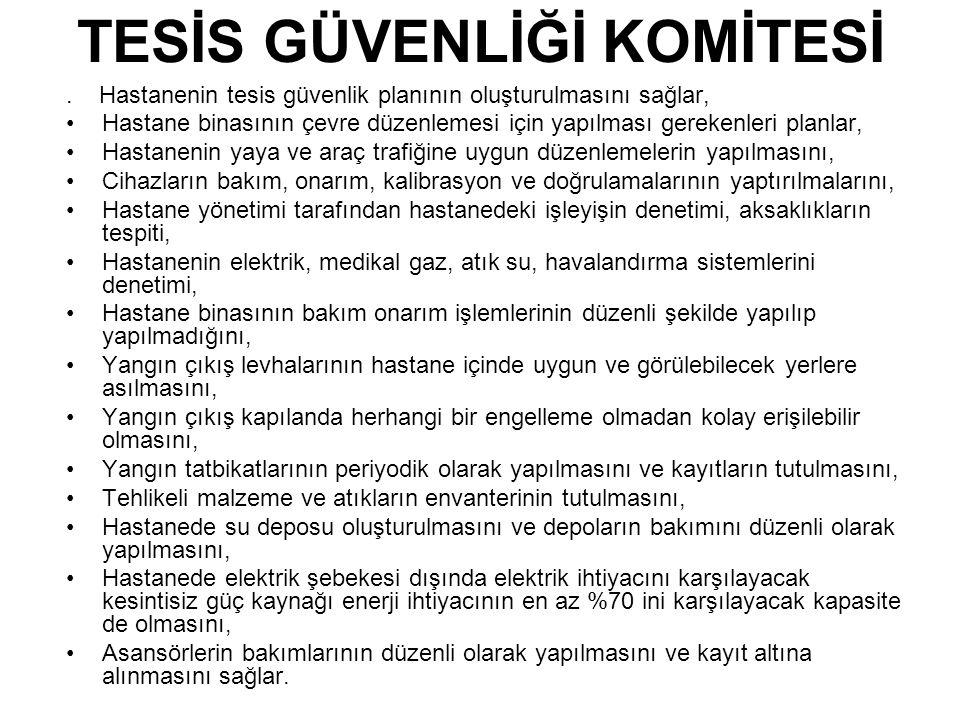 TESİS GÜVENLİĞİ KOMİTESİ.
